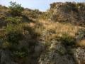 Sin titulo, P.V.C. cm. 100 x 1000 x 100 (instalación en el Vall de la Gallinera -2007-