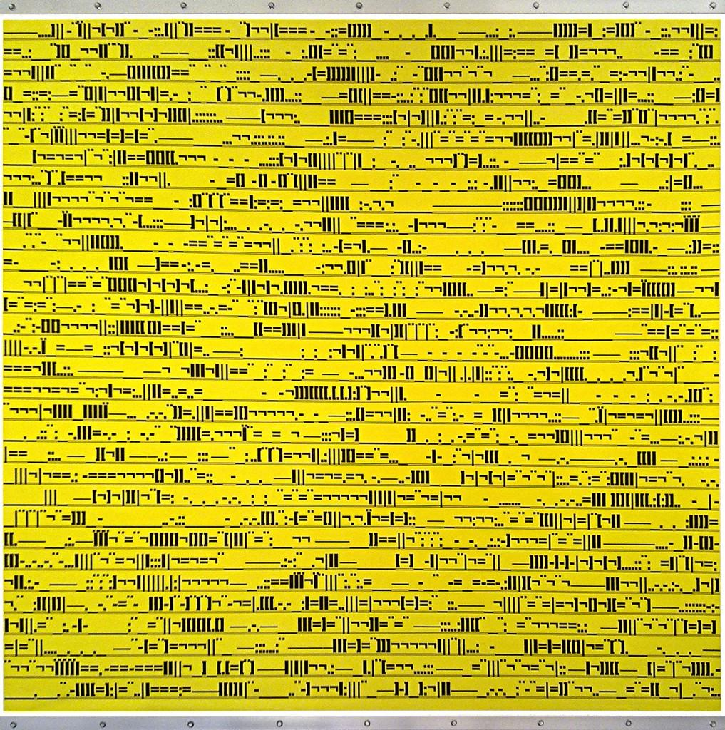 Codice docile Impresiòn digital sobre lona PVC, aluminio cm.152x153x4,5 -2003-