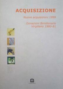 """1999 Catalogo """"Acquisizione"""" Virgilio -Mantova- (tapa)"""