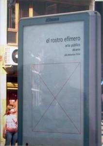 """2004 Catalogo """" El rostro efímero"""" Alicante (tapa)"""